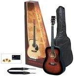 GEWApure Akustikgitarre VGS Acoustic Pack Gitarre violinburst
