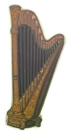 GEWA Anstecknadel Verschiedene Motive Harfe