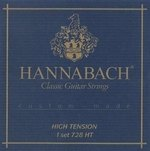 Hannabach Klassikgitarrensaiten Serie 728 High Tension Custom Made Satz mit 3er Diskant in Carbon