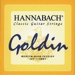 Hannabach Klassikgitarrensaiten Serie 725 Medium / High Tension Goldin 3er Bass