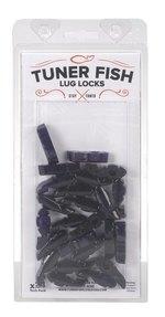 Tuner Fish Lug Locks 24 Pack Black Sparkle TFBKS24