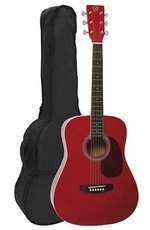 GEWApure Akustikgitarre VGS D-Baby Transparent Rot