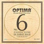 Optima Optima Saiten für Klassik-Gitarre No. 6 24 Karat Gold Satz Carbon Gold high