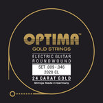 Optima Optima Saiten für E-Gitarre Gold Strings Round Wound Satz