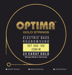 Optima Optima Saiten für E-Bass Gold Strings Round Wound Satz 4-string medium