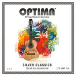 Optima Optima Saiten für Klassik-Gitarre SILVER CLASSICS  Kindergitarre Satz 3/4