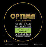 Optima Optima Saiten für E-Bass Gold Strings Round Wound Satz 5-string reg-light