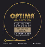 Optima Optima Saiten für E-Bass Gold Strings Round Wound Satz 4-string med-light