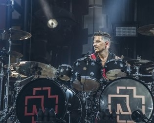 "A DW COLLECTOR'S ''JAZZ"" KIT ON TOUR WITH RAMMSTEIN"