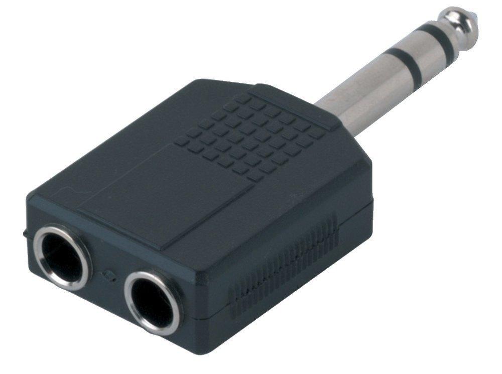 GEWA Adaptér - 2x 6,3 mm Stereo Jack - 1x 6,3 mm Stereo Jack