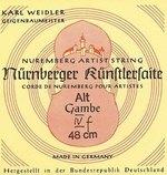Nürnberger Nürnberger Saiten für Gambe Künstler Seilkern. Chromstahl umsponnen Satz