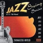 Thomastik-Infeld E-Gitarre-Saiten Jazz Swing Series Nickel Flat Wound Satz 011 flatwound