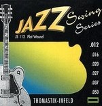 Thomastik-Infeld E-Gitarre-Saiten Jazz Swing Series Nickel Flat Wound Satz 012 flatwound
