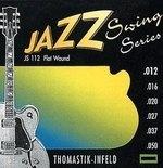 Thomastik Infeld Thomastik Saiten für E-Gitarre Jazz Swing Series Nickel Flat Wound Satz 013 flatwound