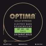 Optima E-Bass Saiten Gold Strings Round Wound Satz 4-string reg-light