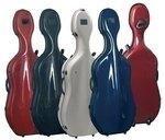 GEWA Cases Celloetui Idea Futura Rolly Schwarz / burgund