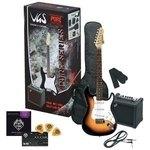 PURE GEWA E-Gitarre RC-100 Guitar Pack 3-Tone Sunburst