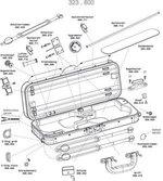 GEWA Cases Violin/Viola- Doppelkoffer Liuteria Maestro Ersatzbezug, Tex schwarz