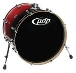 PDP by DW Bassdrum Concept Birch Cherry to Black Fade