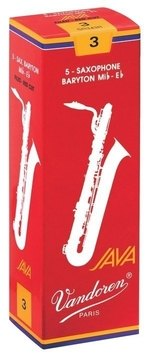 Vandoren Blatt Bariton Saxophon Java Filed Red 3 1/2