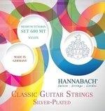 Hannabach Klassikgitarrensaiten Serie 600 Medium Tension versilbert Satz