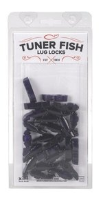 Tuner Fish Lug Locks 24 Pack Black Sparkle TFBKS24