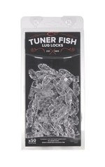 Tuner Fish Lug Locks 50 Pack Black Sparkle TFBKS50