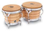 Latin Percussion Bongo Generation II Wood Natur, Chrome HW