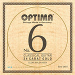 Optima Klassikgitarre-Saiten No. 6 24 Karat Gold Satz Nylon Gold high