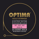 Optima E-Gitarre-Saiten Gold Strings Round Wound Satz