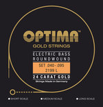 Optima Optima Saiten für E-Bass Gold Strings Round Wound Satz 4-string light