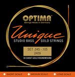 Optima Optima Saiten für E-Bass Unique Studio Gold Strings 4-str. long sc.