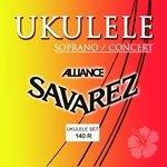 Savarez Saiten für Ukulele Sopran/Concert Satz Sopran/Concert