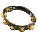 Latin Percussion Tambourin Cyclop Handmodell Brass Jingles, schwarz