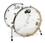 Drum Workshop Bassdrum Design Acryl Clear