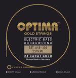 Optima Optima Saiten für E-Bass Gold Strings Round Wound Satz 4-string med-light