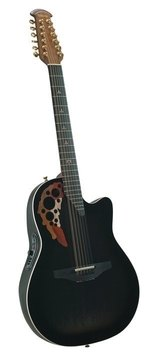 Adamas E-Akustikgitarre Melissa Etheridge Signature Mid Cutaway 12-string Blackburst