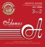 Adamas Adamas Saiten für Akustikgitarre Adamas Phosphor Bronze Historic Reissue 3er Satz Ex-Light .010