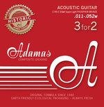 Adamas Adamas Saiten für Akustikgitarre Adamas Phosphor Bronze Historic Reissue 3er Satz Super-Light .011