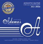 Adamas Akustik-Gitarren Saiten Nuova Phosphor Bronze beschichtet Super-Light .011-.052