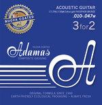 Adamas Akustik-Gitarren Saiten Nuova Phosphor Bronze beschichtet 3er Satz 3er Satz Ex-Light .010