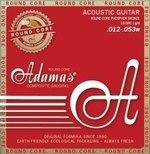 Adamas Adamas Saiten für Akustikgitarre Historic Reissue Phosphor Bronze Round Core Light .012-.053