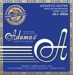 Adamas Akustik-Gitarren Saiten Nuova Phosphor Bronze beschichtet Round Core Super Light .011-.052