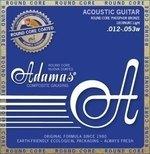 Adamas Akustik-Gitarren Saiten Nuova Phosphor Bronze beschichtet Round Core Light .012-.053