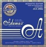 Adamas Akustik-Gitarren Saiten Nuova Phosphor Bronze beschichtet Round Core Medium .013-.056