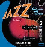 Thomastik-Infeld E-Bass Saiten Jazz Bass Flat Wound Satz 6-str. long