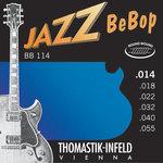 Thomastik-Infeld E-Gitarre-Saiten Jazz BeBop Nickel Round Wound Satz 014rw