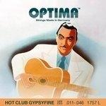 Optima Akustik-Gitarren Saiten Hot Club Gypsyfire Versilbert Satz mit Schlinge