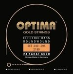 Optima E-Bass Saiten Gold Strings Round Wound Satz 4-string medium