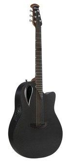 Adamas E-Akustikgitarre Adamas MD80-NWT Mid-Depth Contour Cutaway NWT Black